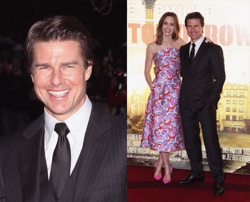 Tom Cruise and Emily Blunt in London