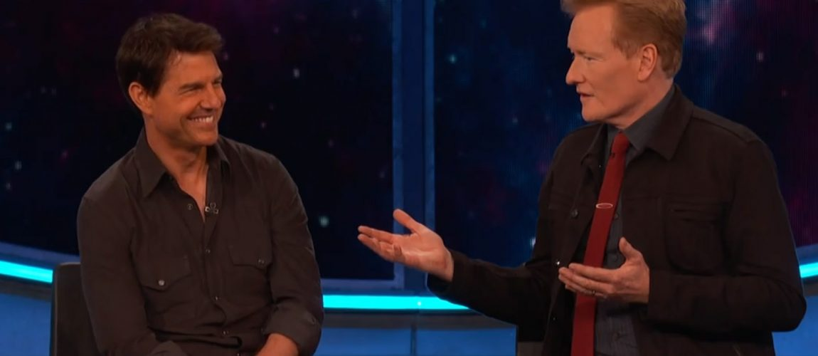 Tom Cruise stops at Conan O'Brien for an interview